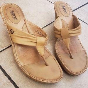 Born thong wedge sandals